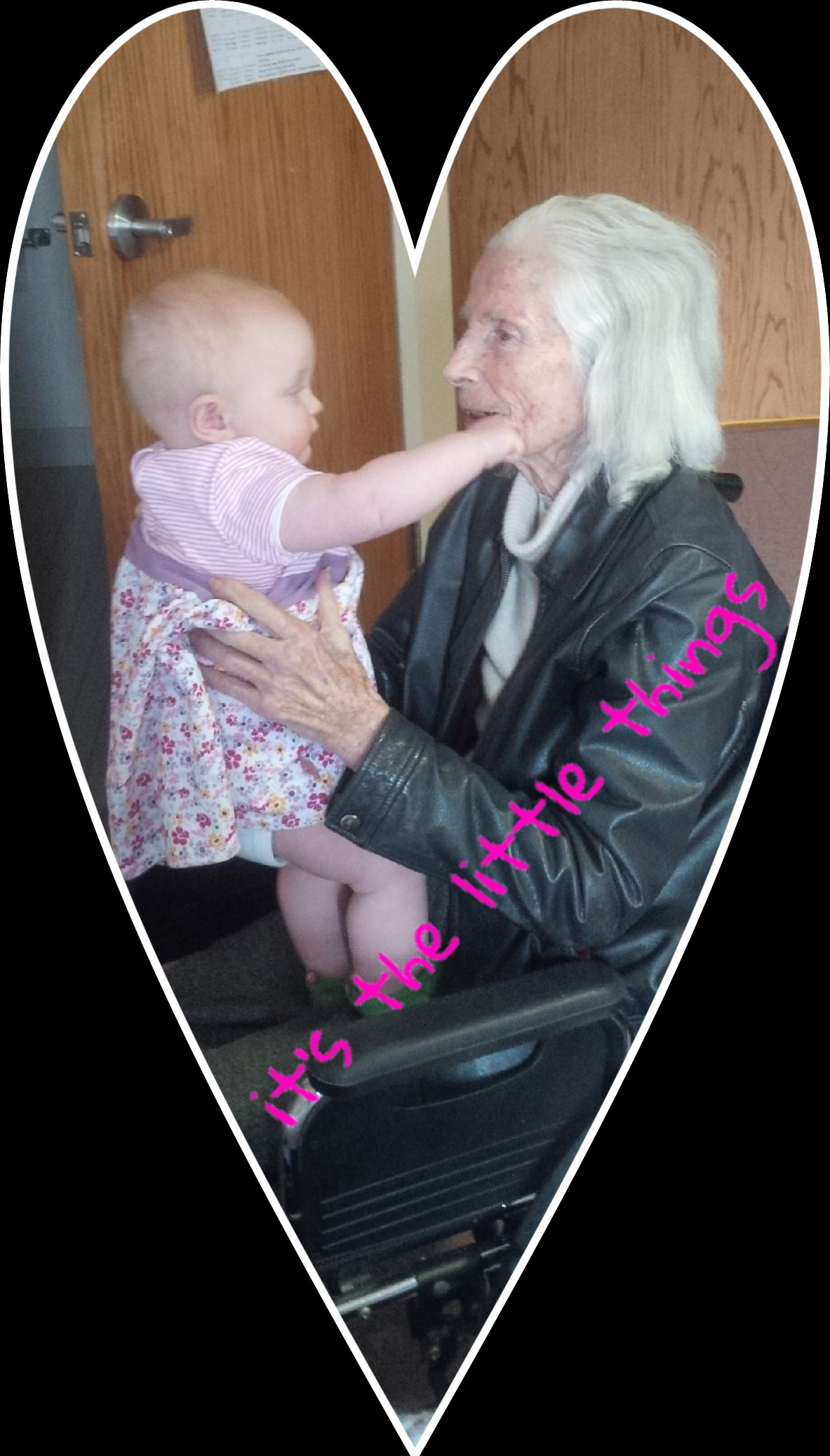 Better Beauty Vermont It's the little things, great-granddaughter with great-grandmother