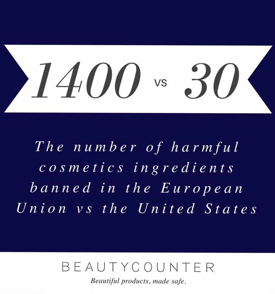 Better Beauty Vermont 1400 chemicals banned in the EU, 30 in the US