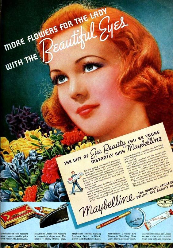 Better Beauty Vermont Vintage Maybelline Ad
