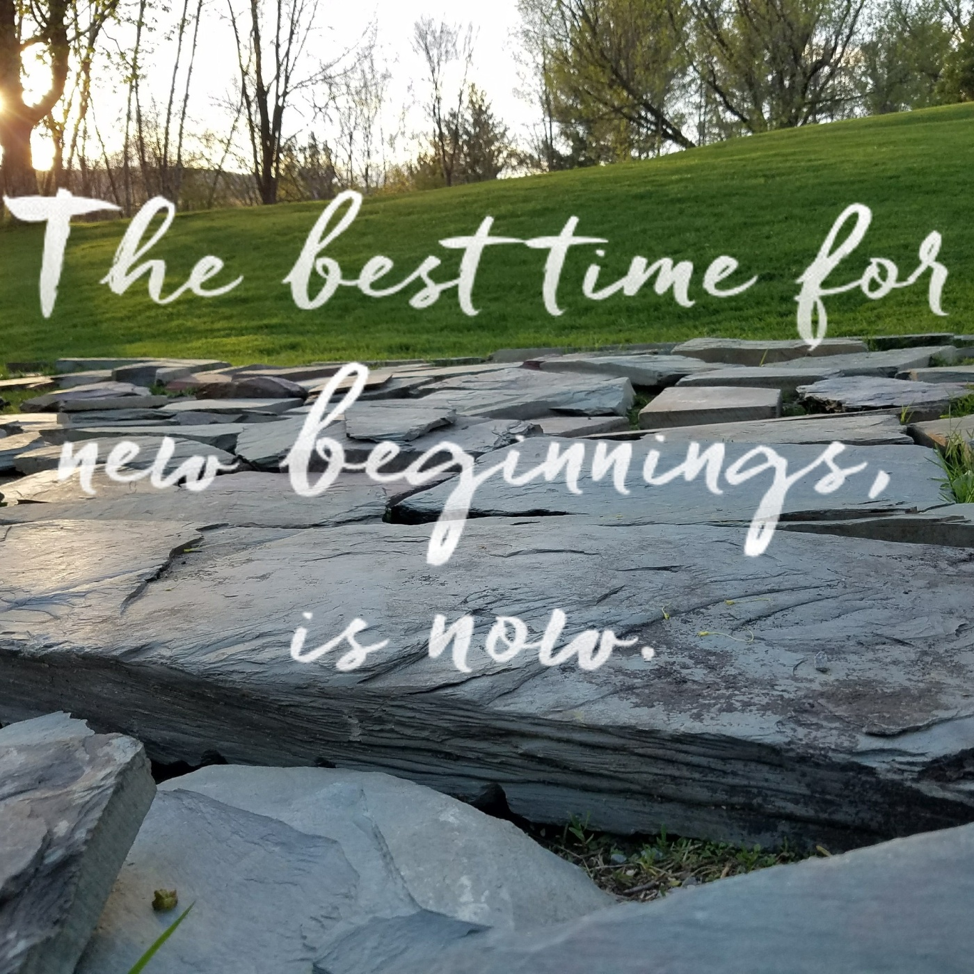 Better Beauty Vermont The Best Time for new beginnings slate stones