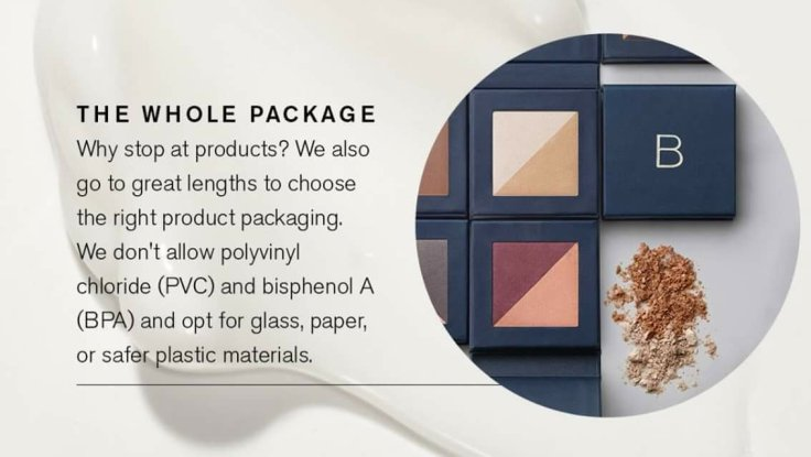 Better Beauty Vermont- Why stop at products? Beautycounter also goes to great lengths to choose the right product packaging. We don't allow polyvinyl chloride (PVC) and bisphenol A (BPA) and opt for glass, paper, or safer plastic materials