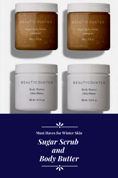 Beautycounter sugar scrub and body butter