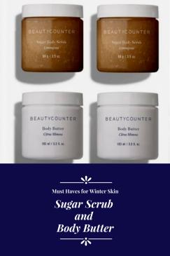 Beautycounter sugar scrub and body butter
